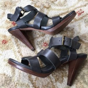 Boden leather sandals charcoal size 36/6
